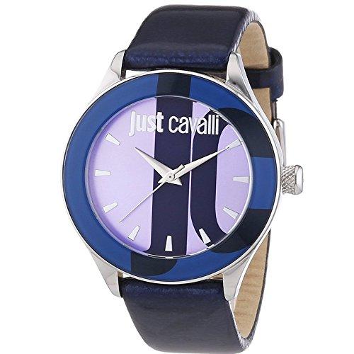 Just Cavalli R7251592503 - Reloj para mujeres, correa de cuero color azul