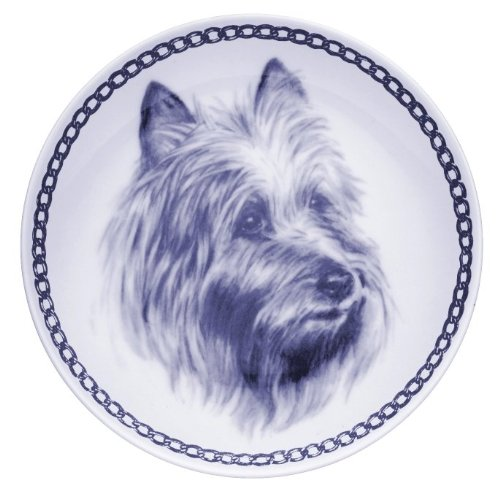 Australian Terrier Lekven Design Dog Plate 19.5 cm  7.61 inches Made in Denmark NEW with certificate of origin PLATE  7522