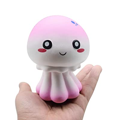 Thinktoo New Colour Octopus Scented Soft Slow Rising Extrusion Toy Collection Cure Gift for Baby, Kiddie, Kids, Adult, Infant, Toddlers Sports Outdoor Play Toys: Arts, Crafts & Sewing