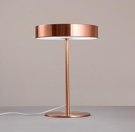 HJHY® Lámpara de mesa simple moderna, hierro cama nórdica del ...