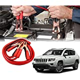 Autopearl Heavy Duty Jumper Booster Cables and Copper Core for Jeep Compass, 500A Current, (Booster_500AMP_JCompass)