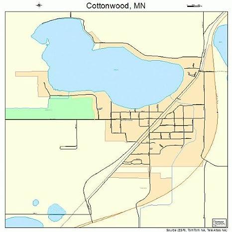 Amazon.com: Large Street & Road Map of Cottonwood, Minnesota ...