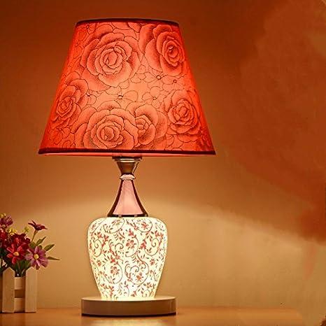 Moderna lámpara de mesa moderna romántica lámpara de ...