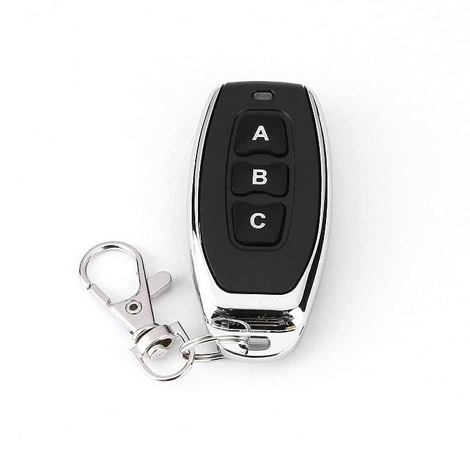 433MHz metal Wireless sistema de alarma 3 Clave puertas de garaje Código duplicador de aprendizaje Control Key Fob DC 6V universal Copia auto del coche: ...