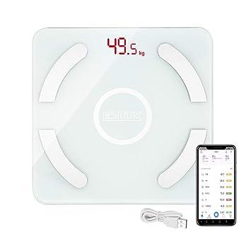 Amazon.com: EDLUX - Báscula de grasa corporal Bluetooth para ...