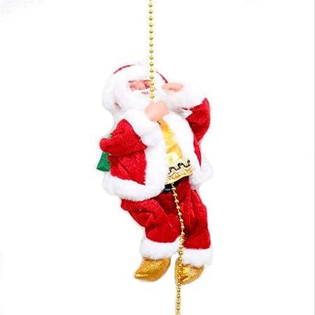 CZLABL Hermosa Navidad Santa Claus Eléctrico Escalera Subida Colgantes Decoración del Árbol De Navidad Adornos Divertido Año Nuevo Regalos De Fiesta De Los Niños: Amazon.es: Hogar