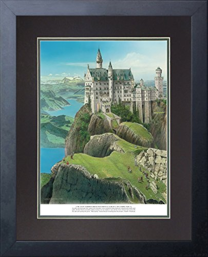 "Legends Never Die ""Infamous 18 Golf Holes"" Double Matted Official Lithograph Print, Framed 11 x 14"", No. 16 St. Ludwigs Royal Bavarian Golf & Hunt Club"
