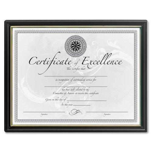 Wholesale CASE of 5 - Burns Grp. Black & Gold Certificate Frames-Certificate Frame, 8-1/2''x11'', 18/PK, Black by DAX