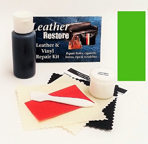 Leather Vinyl Repair Kit with READY TO USE Color, KELLY GREEN, Bright (New Lime Footwear)