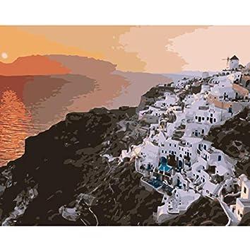 WACYDSD Puzzle 3D Puzzle 1000 Piezas Santorini Grecia Paisaje con ...