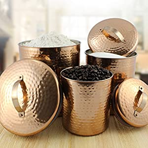 Darware Copper Collection; Kitchen Decor in Stainless Steel & Copper Color