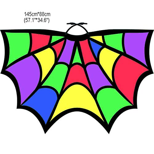 Halloween Party Soft Fabric Butterfly Wings Shawl Fairy Ladies Nymph Pixie Costume Accessory (1# Colorful) -