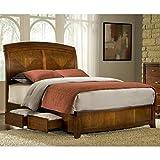 Modus Furniture BR15D3 Brighton Wood Storage Bed, Twin, Cinnamon