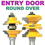 2 pc 1/2'' SH Entry & Interior Door Round Over Matched R&S Router Bit Set