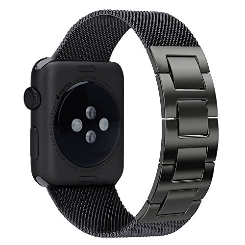 Apple Watch Band, Biaoge Milanese Stainless Steel Band Strap Bracelet Replacement with Hand Removable Jewelry Clasp for Apple Watch Series 3 Series 2 Series 1