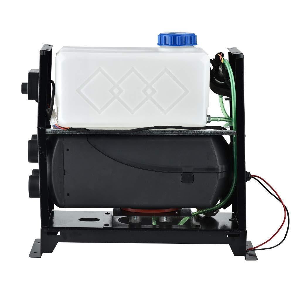 TOPQSC 5KW 12V Riscaldatore di parcheggio Diesel Riscaldatore di parcheggio auto con telecomando 4 fori Tutto in 1 Macchina integrata per camion Rimorchio per barche a motore
