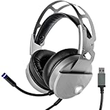 Gaming Headset, 7.1 Surround Stereo Sound Noise Canceling USB wired Over-Ear Headphones with Mic/ LED Light/ 50mm Driver/ Volume Control for PC Laptop Desktop Computer