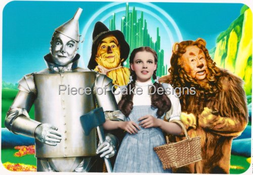 1/4 Sheet ~ Wizard of Oz Cast Birthday ~ Edible Image Cake/Cupcake Topper!!!]()