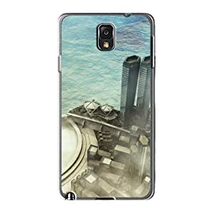 Top Quality Protection 3d City Case Cover For Galaxy Note 3