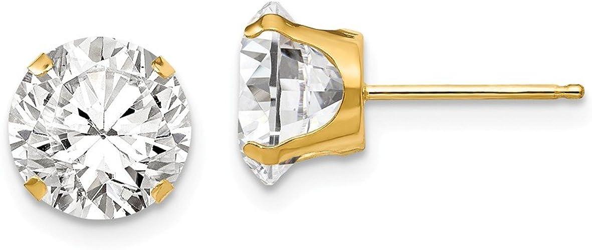 CZ and 4mm Ball Reversible Earrings Mia Diamonds 14k Madi K White Gold 5mm Cubic-Zirconia