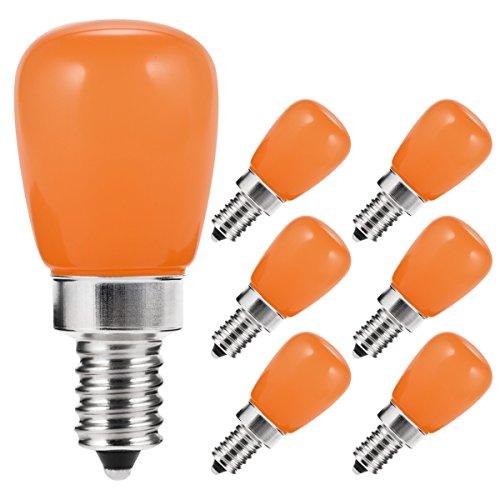 LOHAS S11 Bulb, LED Night Light, Orange Yellow Lights, E12 Candelabra Base, 20W Equivalent(2W), Mini Bulb for Bedroom, Holiday, Christmas(6 Pack) - Mini Christmas Light Bulbs