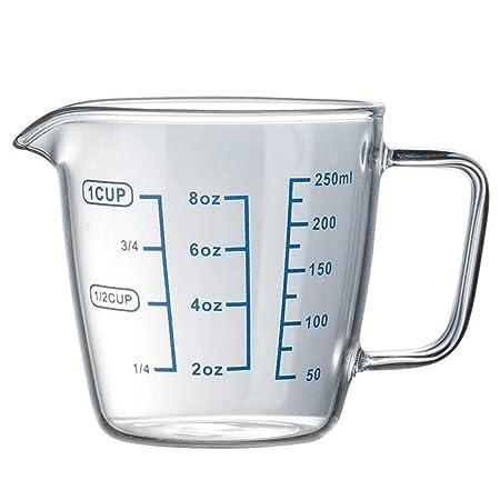 Maxtapos-250 ml 500 ml resistente al calor vaso medidor de ...