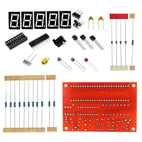 Semoic DIY Kits RF 1Hz-50MHz Crystal Oscillator Frequency Counter Meter Digital LED Tester Meter frequency meter digital