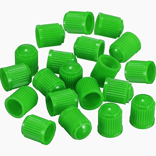 Outus 20 Pack Tyre Valve Dust Caps for Car, Motorbike, Trucks, Bike, Bicycle (Green) by Outus (Image #1)