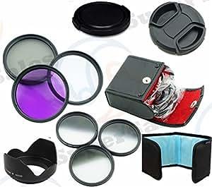 ARBUYSHOP 52mm Kit de filtro graduado gris ND ND4 ND8 Set + UV CPL FLD para Nikon D3000 D5100 D3100 D3200 D60 D40 con lente de 18-55 mm X