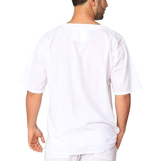 XuanhaFU Retro tee Shirt 1 Pack,Color sólido Lazo Cruzado Camiseta ...