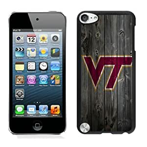 iPod Touch 5 Case ,Unique And Fashionable Designed Case With NCAA Atlantic Coast Conference ACC Footballl Virginia Tech Hokies 7 Black For iPod Touch 5 Phone Case