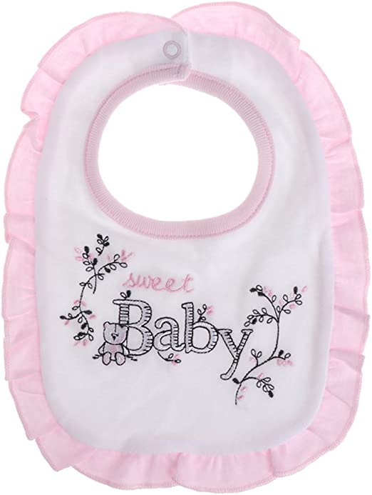 Lamdoo Bebé niña Baberos Princesa Estilo Rosa bebé algodón ...
