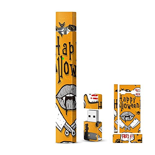 Hello Halloween Skin Warp for Juul Vape, FONTAR Vinyl Decal Sticker Anti-stratch Protective Cover]()