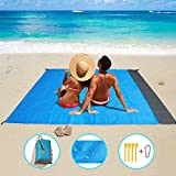 Vetoo Sand Free Beach mat, Quick Drying Ripstop Nylon Compact Outdoor Beach Blanket