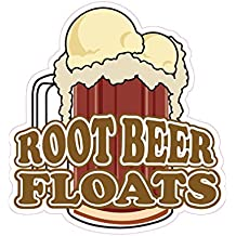 Root Beer Floats Concession Restaurant Food Truck Die-Cut Vinyl Sticker 10 inches