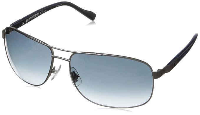 Boss Orange homme BO 0107/S HA 9T6 Montures de lunettes, Marron (Semimatte Dark Ruthenium Brown/Brown Shaded), 63