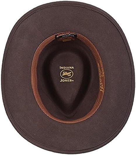 Classic Premium Wool Felt Fedora Hat Indiana Wide Brim Outback Hat Black FHE58