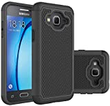 Samsung Galaxy J3 Case, VPR Shock-Absorption Dual Layer Defender Protective Case Cover for Samsung Galaxy J3/ Samsung Galaxy J3 (2016) (Black)