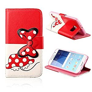 ZX 5.1 Inch Bowknot Pattern PU Leather Case for Samsung GALAXY S6