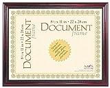 MCS 8.5x11 Inch Elegant Wood and Gold Document Frame, Mahogany (70181)