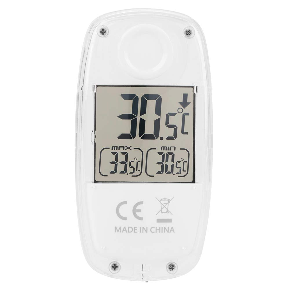 Akozon LCD Digital Solar Power Window Thermometer TS-809W LCD Display Solarbetriebene Monitor Home Fenster Thermometer Temperatur Meter Weiß Maximum und Minimum