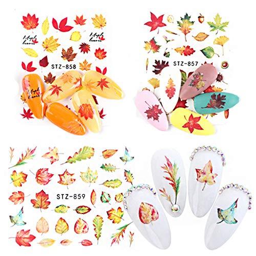 Halloween Bat Eyeshadow (☀ Dergo ☀nail stickers,2019 Halloween Ins Cute Pumpkin Bat Black Cat Nail Sticker Manicure)