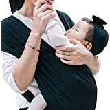コニー ぐっすり 抱っこひも シンプル ビップシート ベビーキャリア スリング シンプル 軽い 軽量 コンパクト お出かけ 楽な 簡単 安全 抱っこ紐 (ブラック) (S)