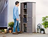 Keter Boston Resin Tall Outdoor Storage Shed