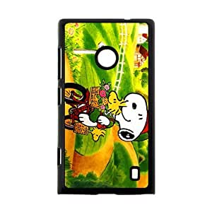 Classic Comics Peanuts Snoopy Case Cover for Nokia Lumia 520- Personalized Cell Phone Protective Hard case Shell