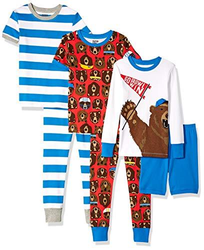 - Spotted Zebra Toddler 6-Piece Snug-Fit Cotton Pajama Set, Sporty Bears, 4T