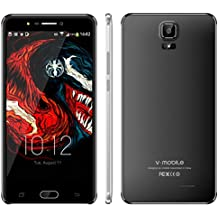 Unlocked Smart Phone V Mobile A9+ Cell Phone 16GB ROM, 6.0 Inch HD Display, 3000mAh Battery Android 7.0, 8MP Rear Camera 5MP Front Camera Dual SIM Mobile Phone WiFi, Bluetooth,GPS (Black)