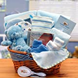 Baby Boy Blue Just for You! Newborn Baby Gift Basket for Boys -Blue