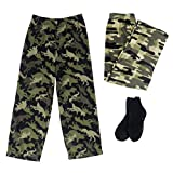 Mad Dog Boy's 2-Pack Pajama Pants + Slipper Socks (Sizes 4-16)
