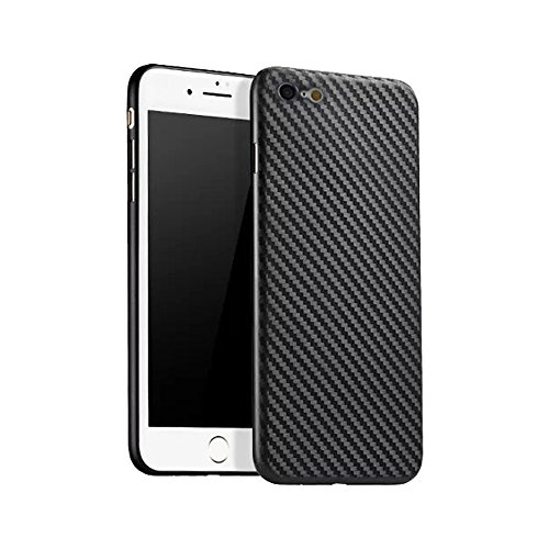 iPhone 6/6s 2017 Case, FANSONG [Carbon Fiber Textured] [Light Thin] Anti-slip Back Cover Cases for Apple iPhone 6/6s (Black)